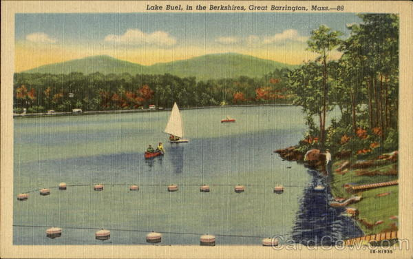 Lake Blue In The Berkshires Great Barrington Massachusetts