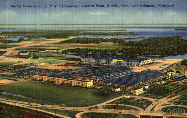 Aerial View Glenn L. Martin Company Baltimore Maryland