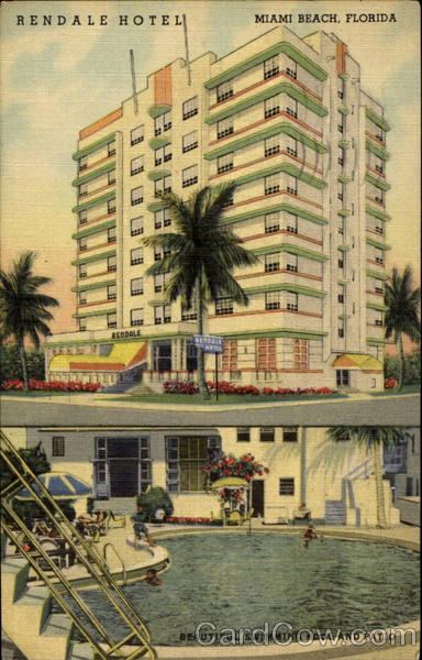 Rendale Hotel, Collins Ave. at 32nd St. Miami Beach Florida