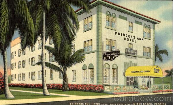 princess ann hotel 920 cellins avenue miami beach fl. Black Bedroom Furniture Sets. Home Design Ideas