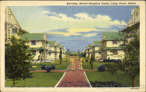Barracks Recruit Reception Center Camp Grant Illinois