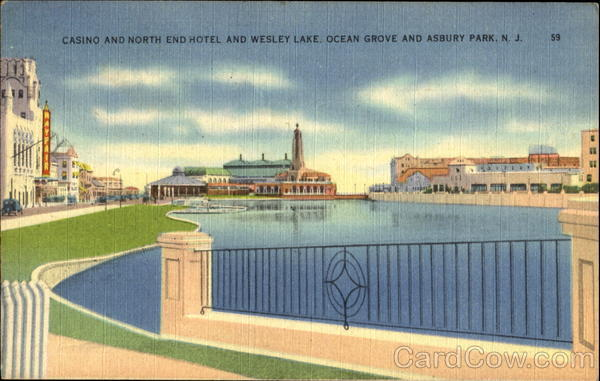 Casino And North End Hotel And Wesley Lake Asbury Park and Ocean Grove New Jersey