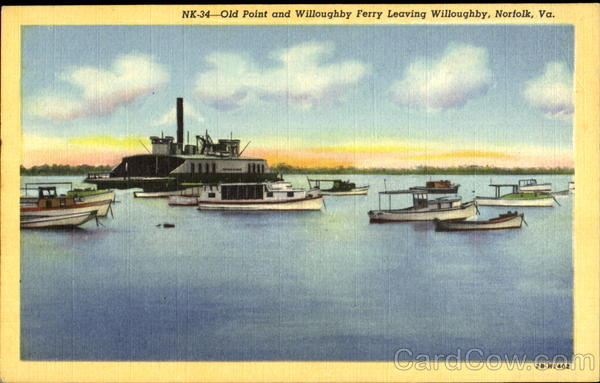 Old Point And Willoughby Ferry Norfolk Virginia