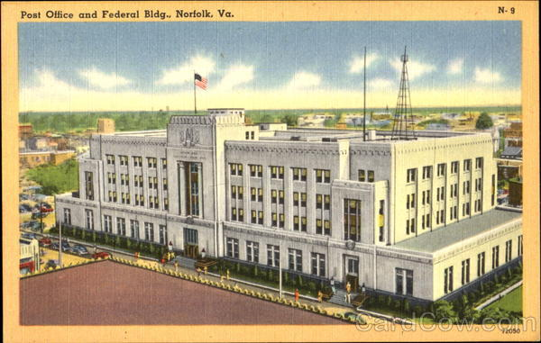 Post Office And Federal Bldg. Norfolk Virginia