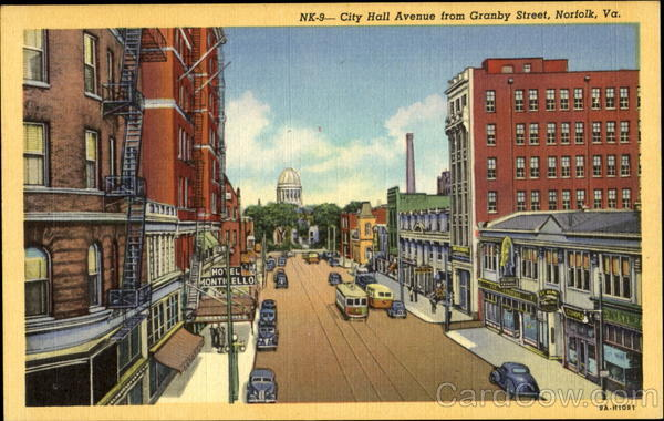 City Hall Avenue, Granby Street Norfolk Virginia