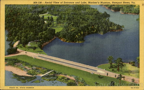 Aerial View Of Entrance And Lake Mariner's Museum Newport News Virginia