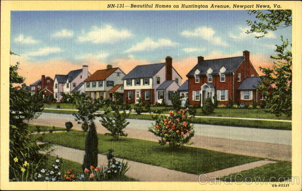 Beautiful Homes On Huntington Avenue Newport News Virginia