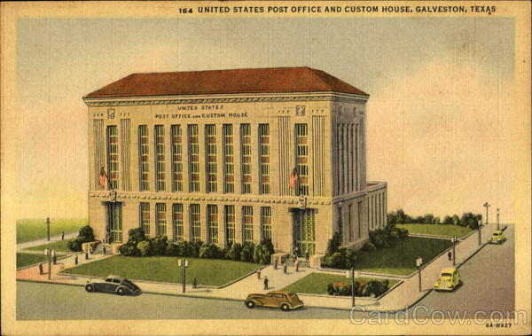 Post (TX) United States  city images : United States Post Office And Custom House Galveston Texas