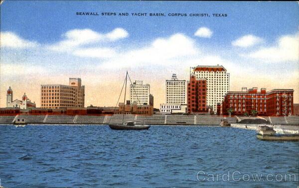 Seawall Steps And Yacht Basin Corpus Christi Texas
