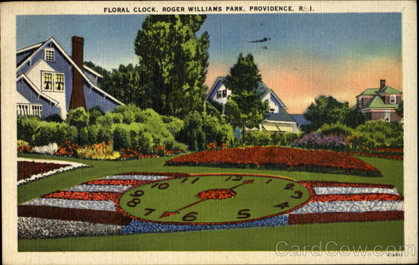 Floral Clock, Roger Williams Park Providence Rhode Island