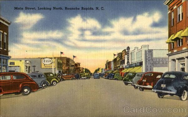 Main Street Looking North Roanoke Rapids North Carolina
