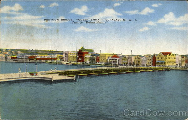 Pontoon Bridge Curacao Netherlands Antilles Caribbean Islands