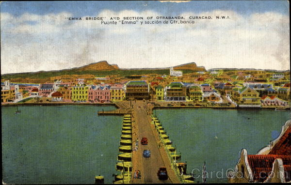 Emma Bridge Curacao Netherlands Antilles Caribbean Islands
