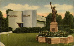 Memorial Library, Cooper Park U. s. Highways 54 and 83 Postcard