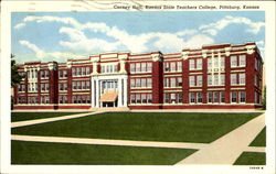 Carney Hall, Kansas State Teachers College Postcard