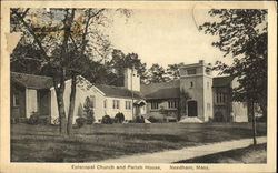 Episcopal Church And Parish House Postcard