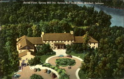 Aerial View Spring Mill Inn, Spring Mill State Park