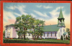 St. John's R. C. Church And Rectory, Long Island