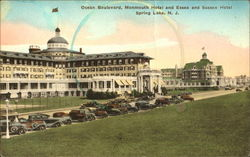 Ocean Boulevard Monmouth Hotel And Essex And Sussex Hotel Postcard