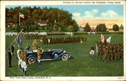 Passing In Review Before The President, New York State Camp