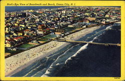 Bird's Eye View Of Boardwalk And Beach Postcard