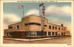 New Greyhound Bus Terminal And Restaurant Postcard