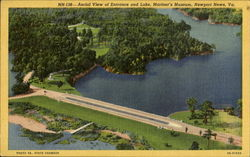 Aerial View Of Entrance And Lake Mariner's Museum Postcard