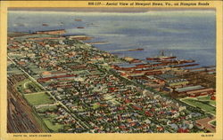 Aerial View Of Newport News On Hampton Roads