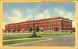 Barracks 33-35-36 Langley Field Postcard