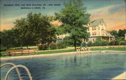 Swimming Pool And Main Building, Mt. Lake House