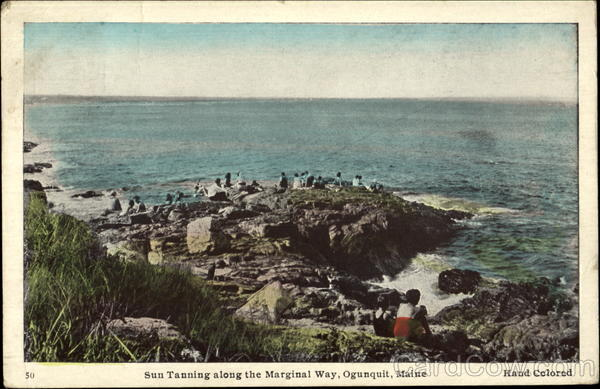 Sun Tanning Along The Marginal Way Ogunquit Maine