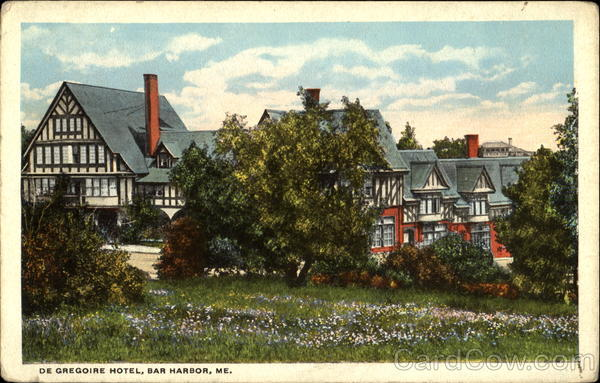 De Gregoire Hotel Bar harbor Maine