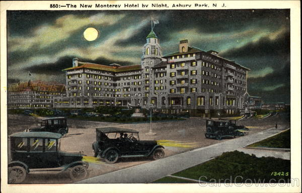 The New Monterey Hotel By Night Asbury Park New Jersey