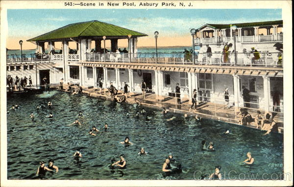 Scene In New Pool Asbury Park New Jersey