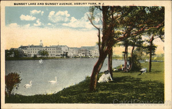 Sunset Lake And Sunset Avenue Asbury Park New Jersey