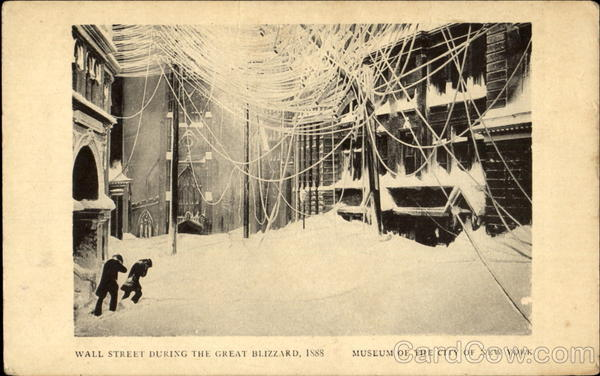 Wall Street During The Great Blizzard 1888 Art