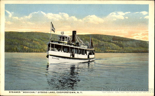 Steamer Mohican, Otsego Lake Cooperstown New York