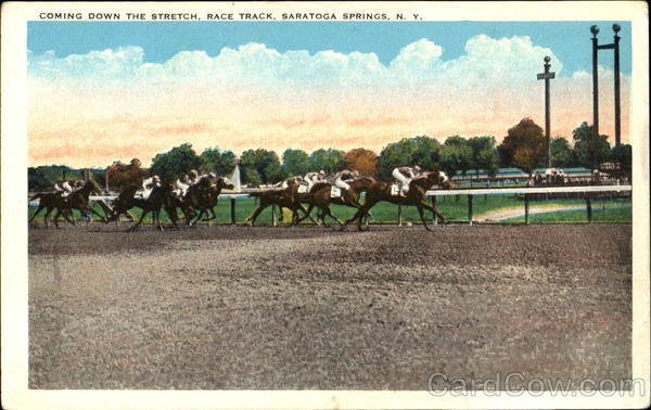 Coming Down The Stretch, Rack Track Saratoga Springs New York