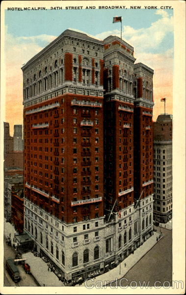 Hotel McLain, 34th Street and Broadway New York City
