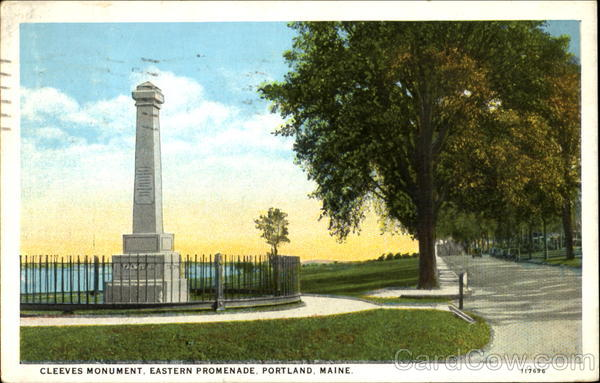 Cleeves Monument, Eastern Promenade Portland Maine