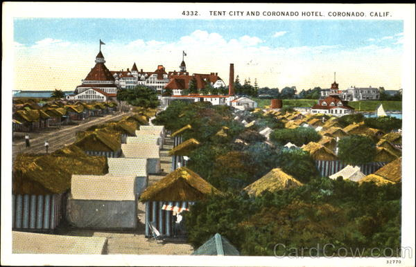 Tent City And Coronado Hotel California