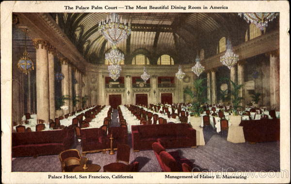 The Palace Palm Court San Francisco California