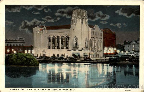 Night View Of Mayfair Theatre Asbury Park New Jersey