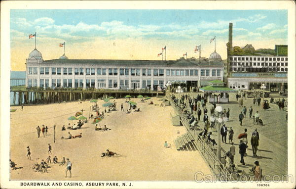 Boardwalk And Casino Asbury Park New Jersey
