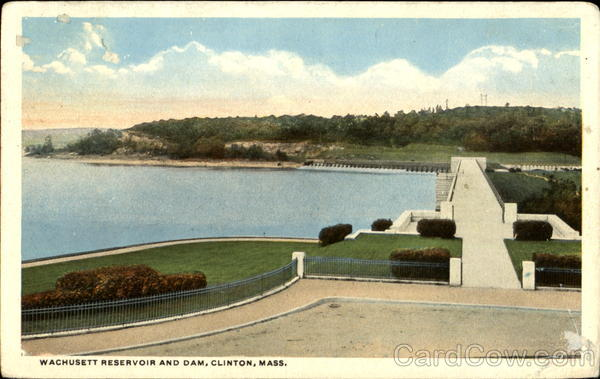 Wachusett Reservoir And Dam Clinton Massachusetts