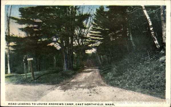 Road Leading To Louise Andrews Camp Est Northfield Massachusetts
