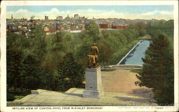 Skyline View Of Canton From McKinley Monument Ohio