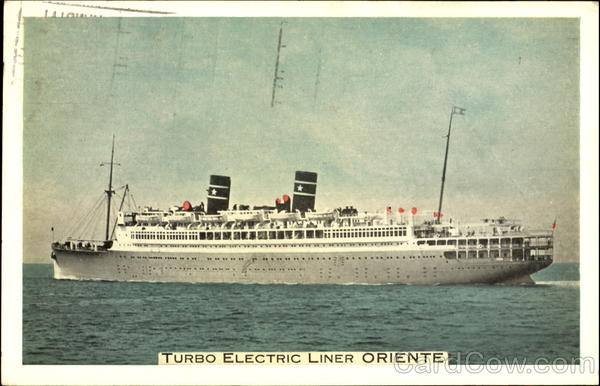 Turbo Electric Liner Oriente Boats, Ships