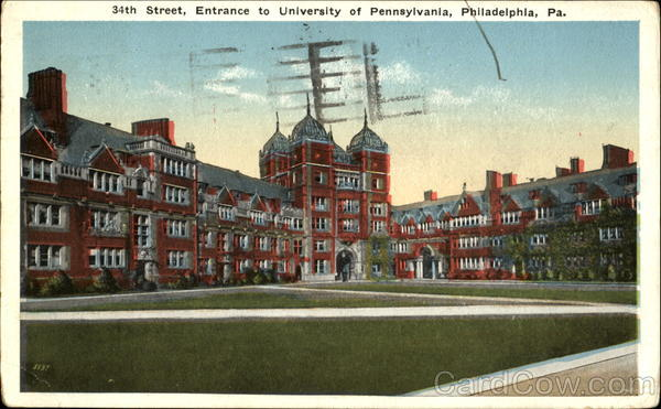 Entrance To University Of Pennsylvania, 34th Street Philadelphia