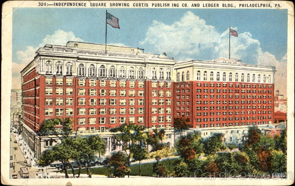 Independence Square Showing Curtis Publishing Co. And Ledger Bldg Philadelphia Pennsylvania